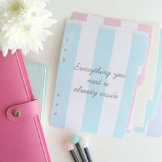 Anything pastel makes it into my favourite colours and right now the only people making planners that satisfies that thirst is Kikki K. So you can imagine my complete and utter exctatic-ness (I don't. Kikki K Planner, Cute Planner, Planner Pages, Printable Planner, Planner Stickers, Planner Ideas, Happy Planner, Small Planner, Arc Planner