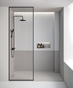 The Limite shower tray in the Product Design category Minimalist Showers, Minimalist Bathroom Design, Modern Bathroom Design, Bathroom Interior Design, Behindertengerechtes Bad, Small Bathroom, Master Bathroom, Toilet Design, Modern Shower