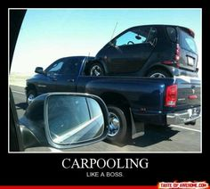 I have to laugh every time I see a smart car. I Smile, Make You Smile, Funny Cute, Hilarious, Only In America, Demotivational Posters, Lol, I Love To Laugh, Thats The Way