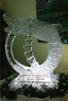 dragonfly ice sculpture - Google Search