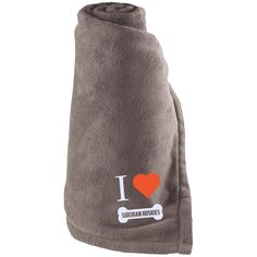 Siberian Husky - I LOVE MY SIBERIAN HUSKY (BONE DESIGN) - Large Fleece Blanket
