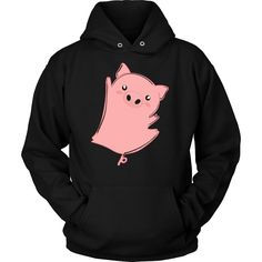 Pig T-shirt, hoodie and tank top. Pig funny gift idea.