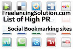 High PR Social Bookmarking Sites List 2016 | Freelancing Solution - High PR Social Bookmarking Sites List 2016 is completely up to date and vastly improved quality as compared to other websites.
