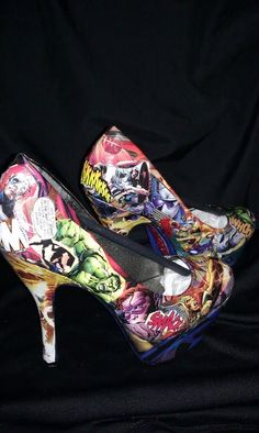 Marvels The Avengers heels!!! Someone please buy me these! clothing-accessories