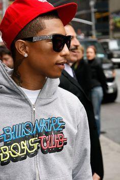 Pharrell , Love this Producer/artist.