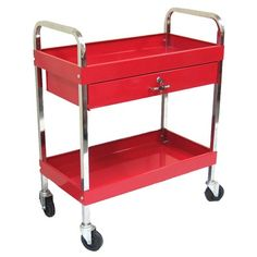 Excel Rolling Metal Tool Cart with 1 Drawer $112