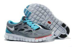 new product 43817 6c571 Cool Grey White Anthracite Chlorine Blue Nike Free Run 2 Men s Running  Shoes Nike Free Run