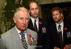 Prince Charles, Prince William, and Prince Harry tour the trenches at vimyridge  to mark the centenary of the battle Vimy100