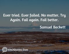 Samuel Beckett ever tried quote