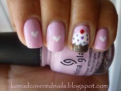 konad covered nails: Cupcake theme party = cupcake nails