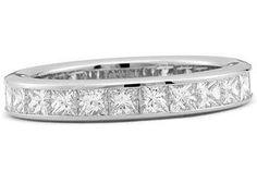 My wedding band *heart* (platinum channel set princess cut diamond eternity band - 25 stones, 6 ct)