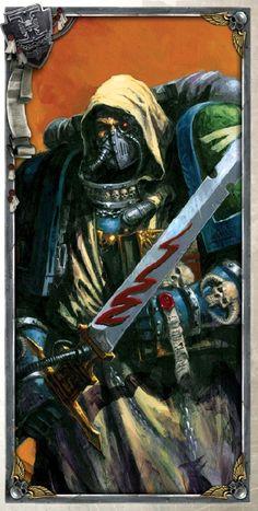 Ezekial Dark Angels space marines W40K Warhammer Dark Angels, Dark Angels 40k, Warhammer 40k Art, Fantasy Heroes, Angels And Demons, Angel Art, Space Marine, Sci Fi, Illustration