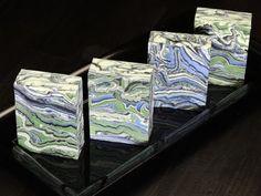 """Azurite and Malachite"" by Black Cat Blues-Premium Hand Made Art Soap"