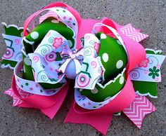 """Our hair bows are handmade with perfection and over the top quality ribbon. We take the time to make every hair bow special, that is why we are """"Knot Your Average Bow""""   For local pick up (grand Prairie) email messyjessieshairbows@gmail.com"""