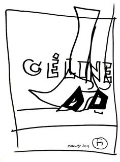 belle BRUT: Drawing again… #Celine #ThatIsAll © belle BRUT 2014