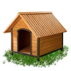 """The Arf Frame Dog House is a Real Wood Home for your woofer. One of Pet Squeak's most popular Dog Houses, the Arf Frame provides your pet their own comfortable habitat. The Arf Frame Dog House is a """"close Wood Dog House, Large Dog House, Build A Dog House, House Building, Building Plans, Plastic Dog House, Modern Dog Houses, Pet Houses, The Perfect Dog"""