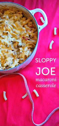 Sloppy Joe macaroni