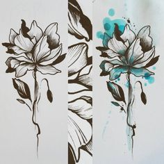 Vapaa kuva. Väreillä tai ilman. Tälle löytyis ylihuomenna (20.4) hakkaus aikaa. Tai jollekin vastaavanlaiselle :) #floral #flower #flowertattoo #inkdrawing #watercolortattoo #watercolor #painting #art #turkutattoo #soulskintattoo