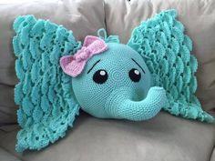 crochet elephant pattern | Crochet Elephant Pillow | Home Design, Garden & Architecture Blog ...