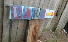 3-D RUSTIC Nautical Wood Sign Lake Sign by GlancesBackVintage