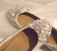 Flat Cinderella Shoes.  Presh.