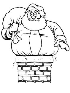 Christmas Santa Coloring Pages Printable Christmas Coloring