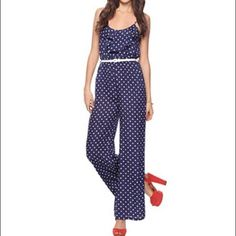 d53049dc871 polka dot jumpsuit with red heels. Poshmark99 · Products