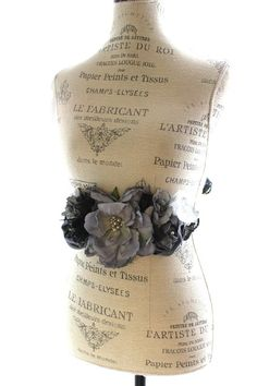 Country chic belt shabby floral sash romantic by TrueRebelClothing, $45.00