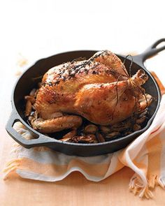 Chicken with 40 Cloves of Garlic Recipe. Get a taste of the French countryside: chicken with mild, buttery roasted garlic-- yes, 40 cloves of it-- and a few sprigs of thyme. C'est tout!