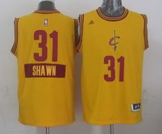 Cleveland Cavaliers  31 Shawn Marion Revolution 30 Swingman 2014 Christmas  Day Yellow Jersey db75c6c93a0e