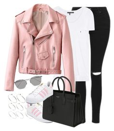 """""""Untitled #1099"""" by cottxncandy on Polyvore featuring Topshop, ASOS, rag & bone, adidas, Yves Saint Laurent and Linda Farrow"""