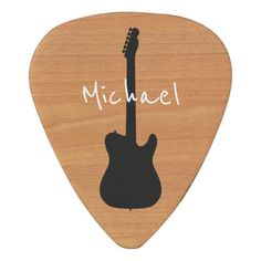 Country Rustic Wood Cool Name Guitar Pick