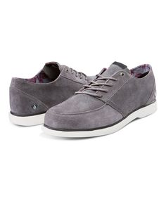 Charcoal Rohm Suede Oxford