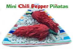 Mini Chili Pepper Pinatas ~ for Cinco de Mayo. Super cute and don't look that hard to do. Really!
