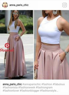 Plated high waisted skirts Love the style of this skirt. (NOT the top :-)) Fashion dresses, clothings, looks★ different top for the office Dream must haves Fashion Pants, Hijab Fashion, Fashion Dresses, Skirt Outfits, Dress Skirt, The Dress, Prom Dress, Classy Outfits, Chic Outfits