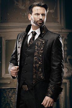 Extravagante Herrenmode, Gehrock, ausgefallene Hochzeitsanzüge ...
