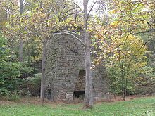 What is left of the old iron furnace that gives Bloomery, WV it's name