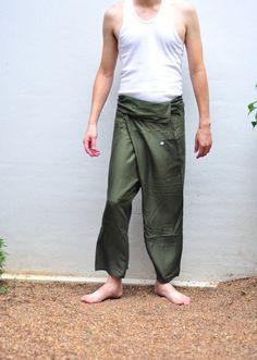 Thai Rayon Pants Fisherman Pants For men All season by SiamTrendy, $16.99