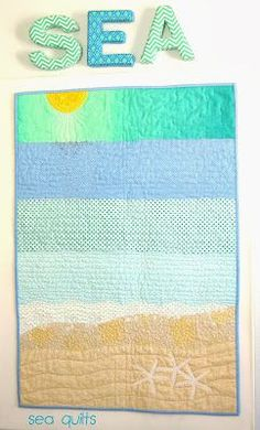 Sea Quilts. Would love to do a bed sized quilt like this for Lily.