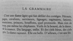 La grammaire définie par le poète Norge