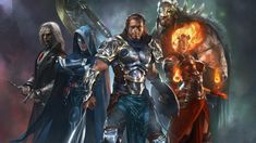 Magic: The Gathering is a very complex card game. Like most other trading card games, it carries a massive list of rules and stipulations to play it. Wallpaper Pc Hd, Wallpaper Backgrounds, Conan The Barbarian, Color Magic, Gaming Wallpapers, Desktop Wallpapers, Custom Action Figures, Wizards Of The Coast, Free Pictures