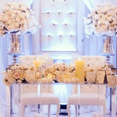 Stylishly elegant wedding head tables for the bride and groom Toronto.