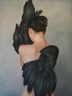 Amy Judd - Art - Peinture - Portrait - Animaux - Girls and birds Art Of Letting Go, Art Du Monde, Fashion Painting, Figure Painting, Painting Art, Watercolor Painting, Dark Art, Oeuvre D'art, Art Inspo