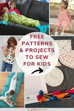 Free Patterns and Projects to Sew for Kids Sewing Projects For Kids, Sewing For Kids, Sewing Crafts, Clothing Patterns, Sewing Patterns, Free Clothes, Diy Gifts, Little Ones, Free Pattern