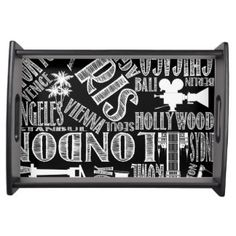 Black and White, Urban Cities Serving Tray