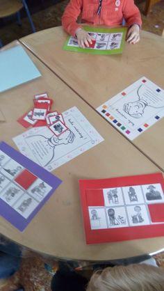 een creatieve juf maakte een bingo van het bestand: de klusjes van mama en papa (van katrotje)