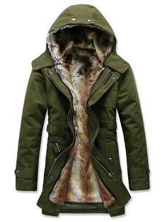 Tidebuy.com bietet hohe QualitätRegular Fit Einfarbig Kapuze Bindgürtel Herren MantelWir haben mehr Arten fürHerren Mäntel und Jacken