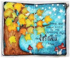 Autumn, art journal, Mixed - Media