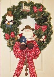 Texas Santa Wreath