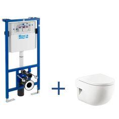 Zestaw podtynkowy Duplo + miska WC podwieszana Meridian Compacto z powłoką MaxiClean | Miski WC podwieszane | WC | Produkty | Roca